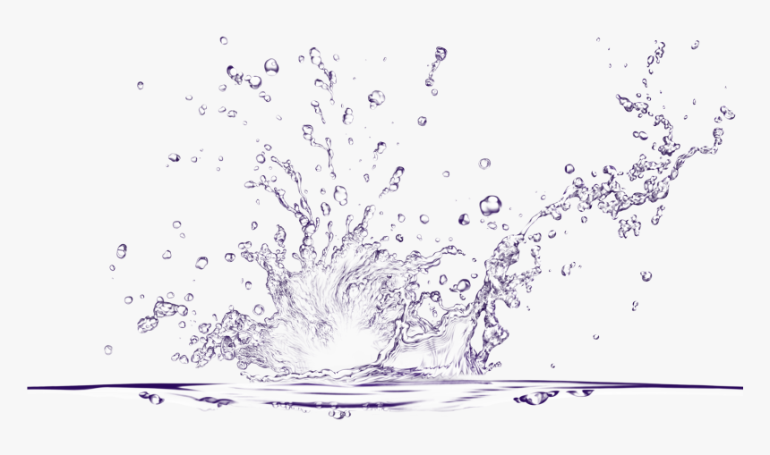 Drawn Water Droplets 3 Water - Water Splash Transparent Background, HD Png Download, Free Download