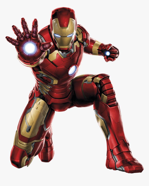 Iron Man Front - Iron Man Transparent Background, HD Png Download, Free Download