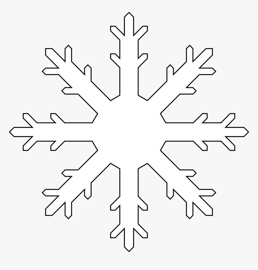 Transparent Snowflake Clipart Transparent Background - White Snow Flake Clip Art, HD Png Download, Free Download