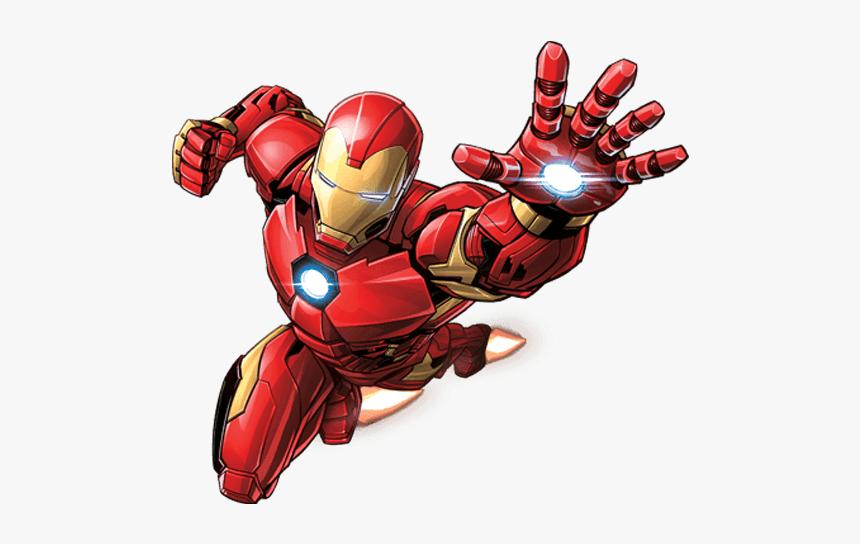 Superhero Comics Universe Thor Iron Ironman Marvel - Iron Man Flying Png, Transparent Png, Free Download