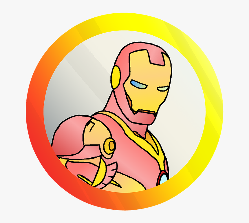 Iron Man, Hero, Avenger, Comics, Sketch, Vector - Gambar Logo Iron Man, HD Png Download, Free Download