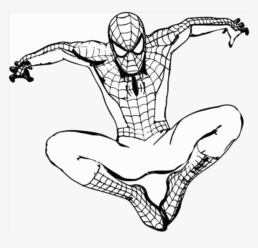 Spiderman Photos Of Clipart Luxury Immagini Spider Spiderman Cartoon Drawing Hd Png Download Kindpng