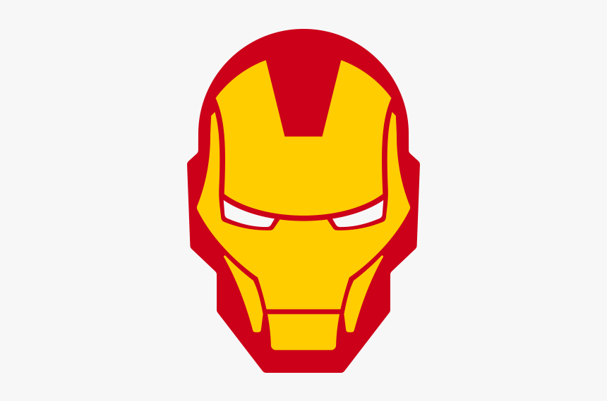 Head Clipart Ironman - Iron Man Face Logo, HD Png Download, Free Download