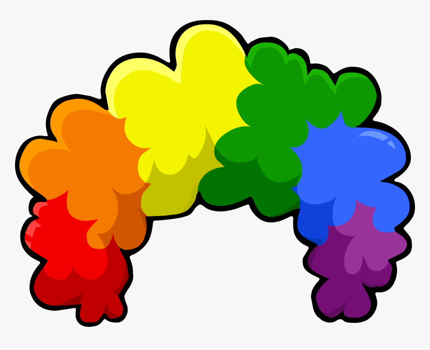 Club Penguin Wiki - Transparent Background Clown Wig Transparent, HD Png Download, Free Download