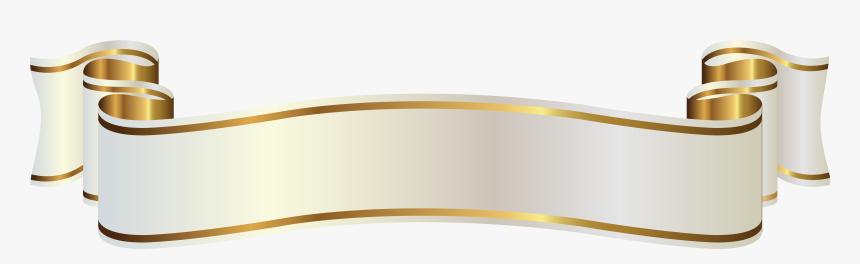 Ribbon Banner Gold Png, Transparent Png, Free Download