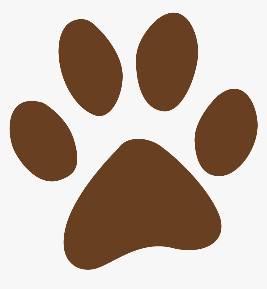 Dog Prints Cliparts Cartoon Bear Paw Print Hd Png Download