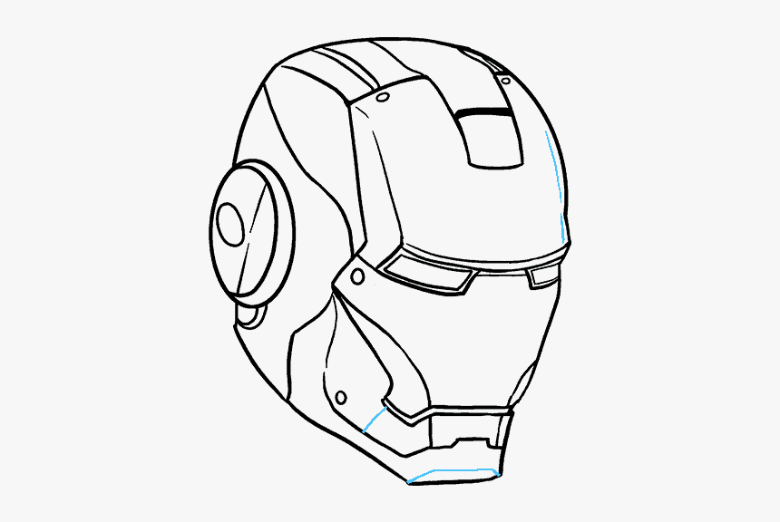"""How To Draw Iron Man""""s Mask - Mask Iron Man Drawings, HD Png Download, Free Download"""