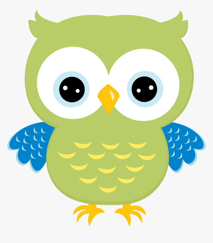 Transparent Owl Face Png - Green Owl Clip Art, Png Download, Free Download