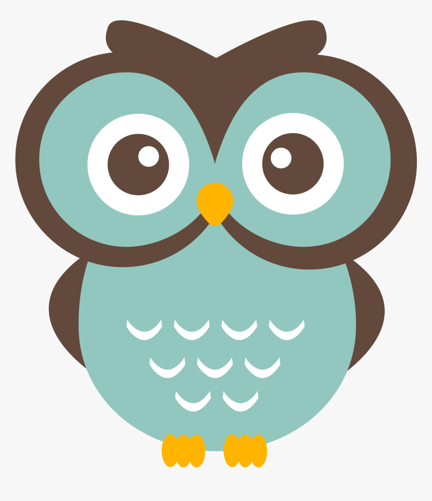 Owls Clipart Teal - Cute Owl Clipart, HD Png Download, Free Download