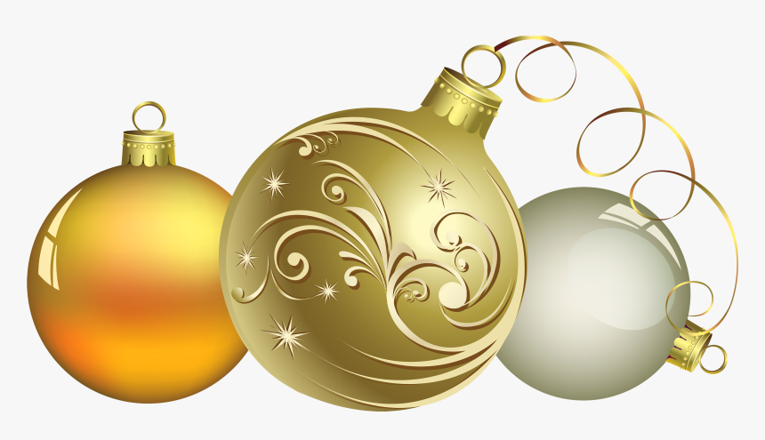 Christmas Decoration Png - Gold Christmas Decor Png, Transparent Png, Free Download