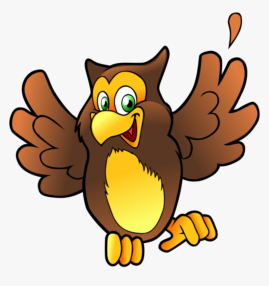 Clipart Owl Face - Clip Art Happy Owl, HD Png Download, Free Download