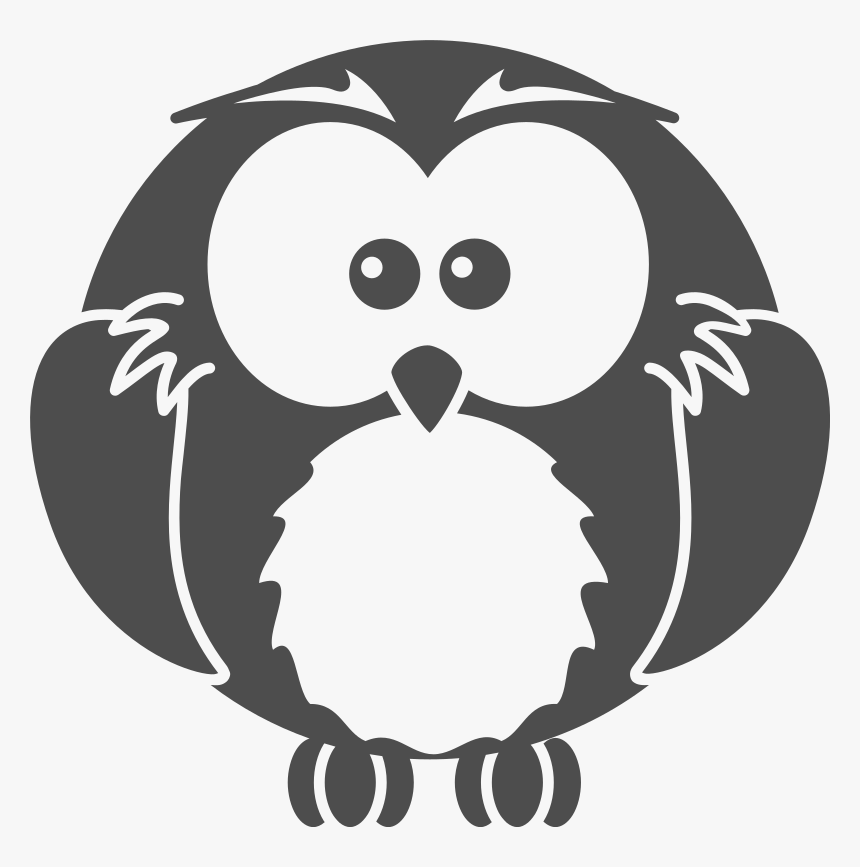 Owls Vector Black N White, HD Png Download, Free Download
