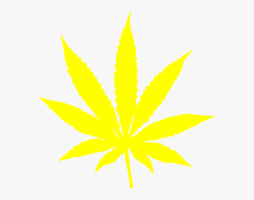 Marijuana Cannabis Leaf Stars And Stripes Yellow Clip - Weed Leaf On Black Background, HD Png Download, Free Download