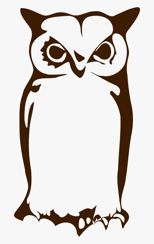 Owl Silhouette Clip Art Gambar Tato Burung Hantu Hd Png