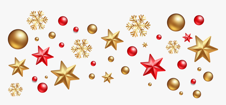 Clipart Designs Interior - Gold Christmas Decorations Png, Transparent Png, Free Download