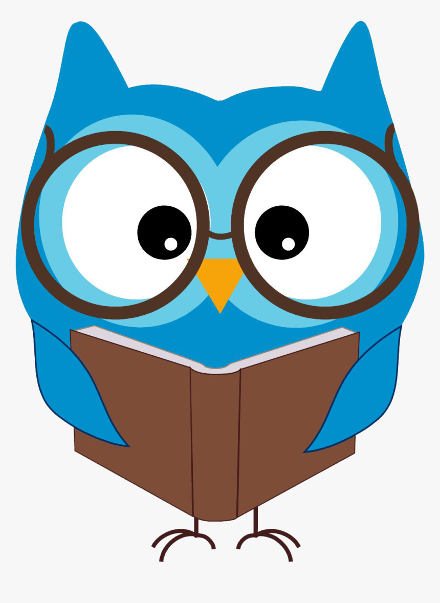 Reading Owl Clip Art - Owl Reading Clipart, HD Png Download, Free Download