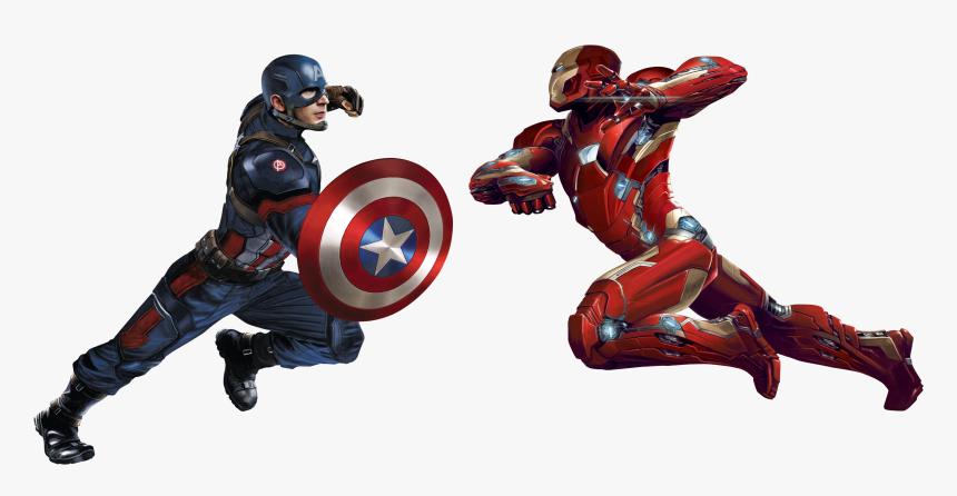 Cap Vs Im Cw Render - Captain America Vs Iron Man No Background, HD Png Download, Free Download