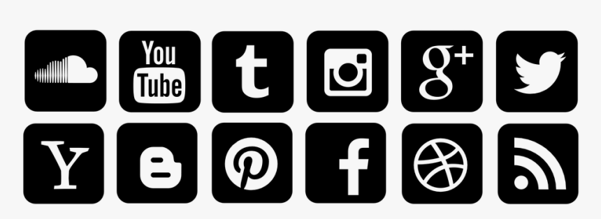 Social Networks Icons Twitter Like Facebook Icone Reseaux