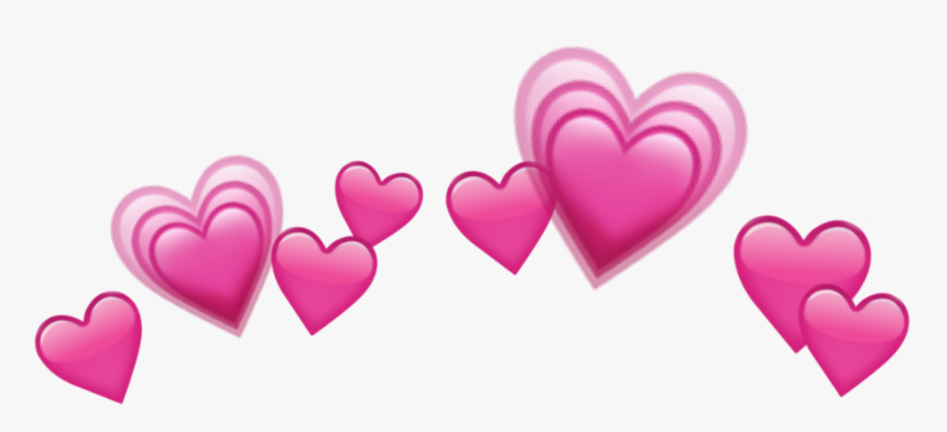 Sticker Heart Hearts Crown Emoji Tumblr Emojis Crown - Blue Heart Crown Png, Transparent Png, Free Download