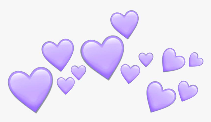 Twin Emoji Png -purple Hearts Heart Purpleheart Crown - Purple Heart Crown Png, Transparent Png, Free Download