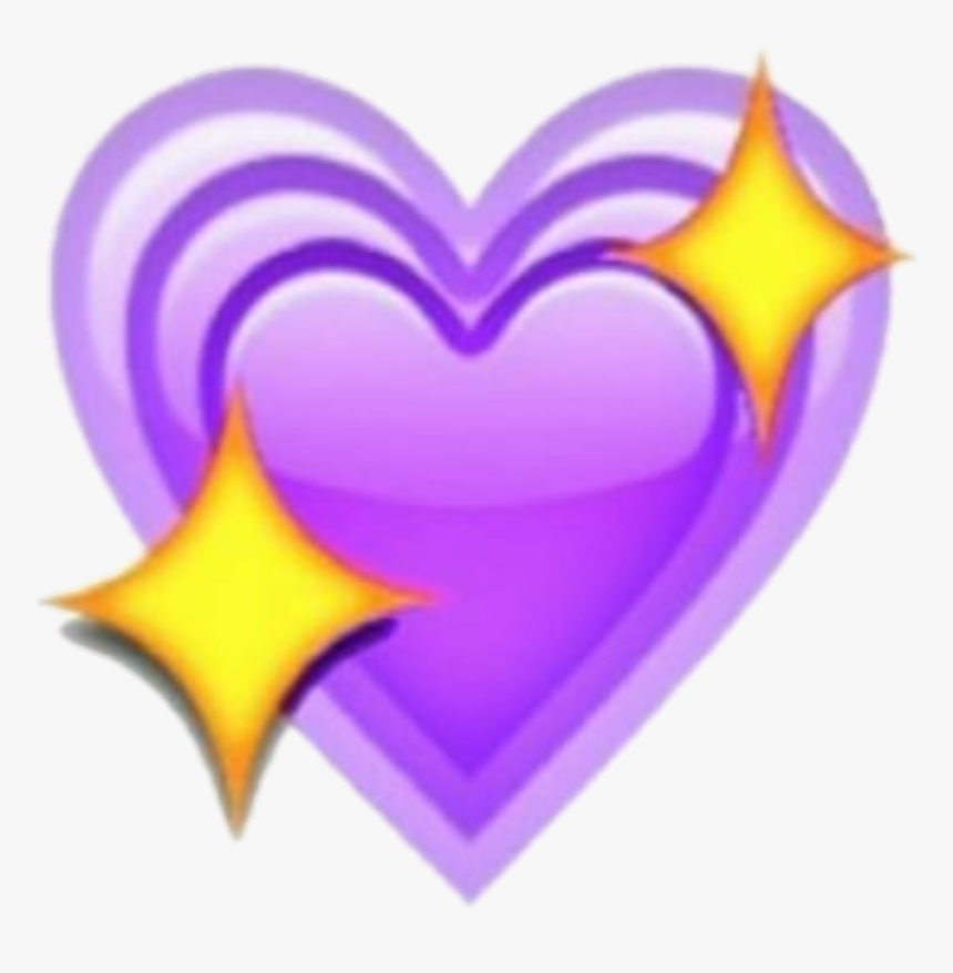 Transparent Heart Emoticon Png - Yellow And Purple Heart Emoji, Png Download, Free Download