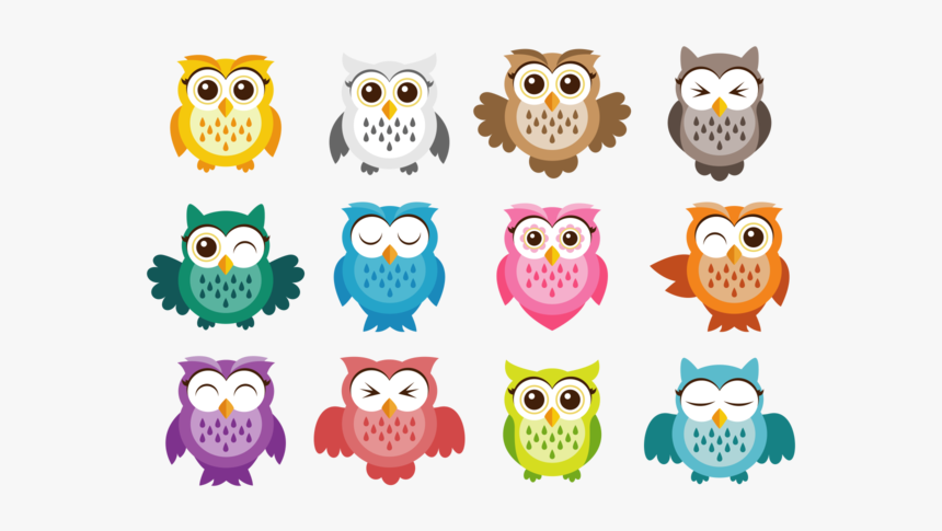 Owl Free Vector Art - Owl Stickers, HD Png Download, Free Download