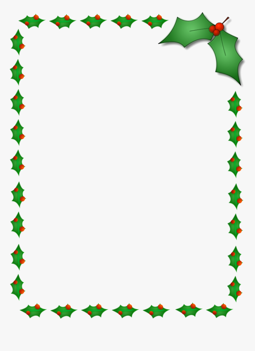 Holly Leaf X Ivy Leaves Clipart Free Christmas Border Holly Border Clipart Hd Png Download Kindpng