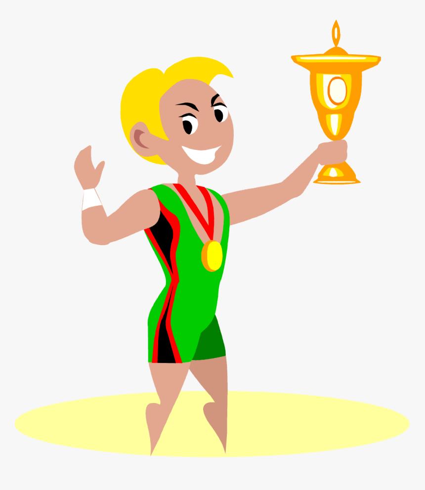- Winner Wrestling Cartoon Clipart , Png Download - Gold Medal Winner Clipart, Transparent Png, Free Download