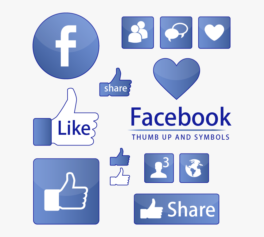 Facebook Like Button Symbol - Vector Facebook Png Icon, Transparent Png, Free Download