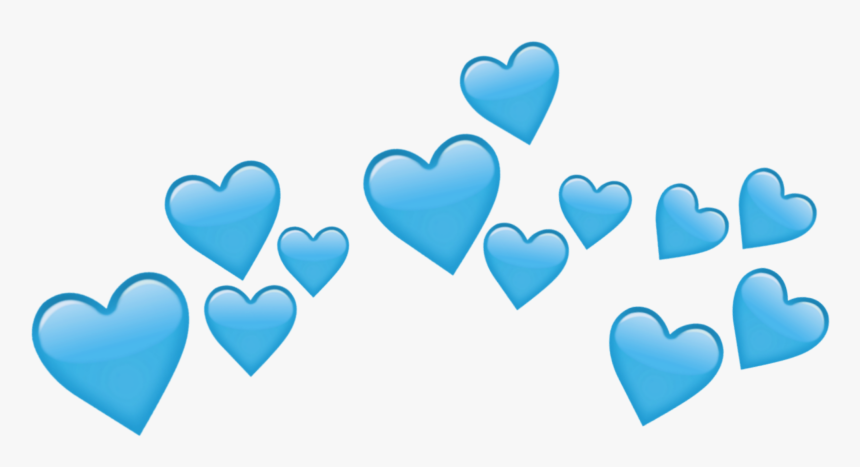 Transparent Crown Tumblr Png - Blue Heart Crown Png Transparent, Png Download, Free Download