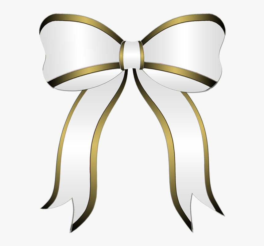 White Bow, Gift, Party, Bow, Ribbon, Holiday, Christmas - White Christmas Ribbon Png, Transparent Png, Free Download
