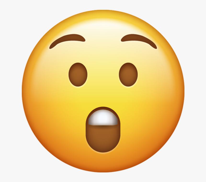 Emoji Surprised Png - Transparent Background Surprised Emoji, Png Download, Free Download