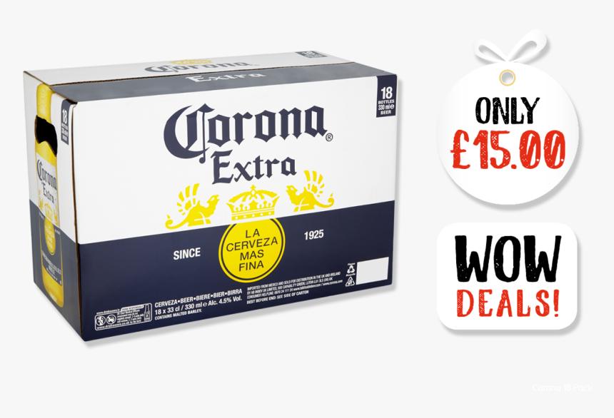 6 Bottles Box Corona Extra - Corona Extra Box, HD Png Download, Free Download