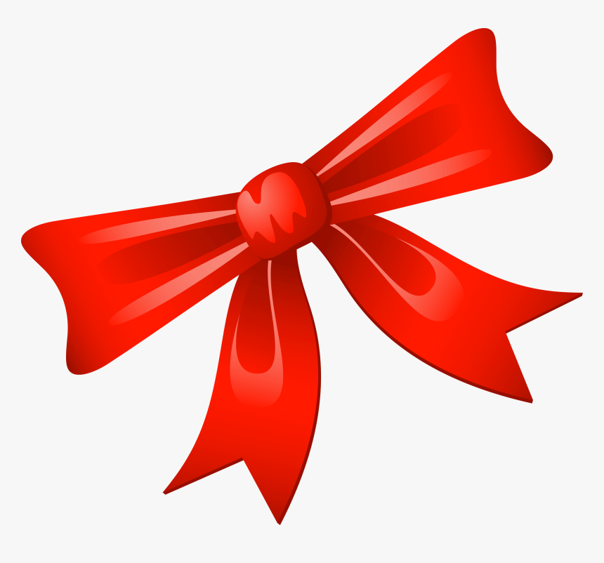 Red Bow Png - Red Ribbon For Christmas, Transparent Png, Free Download