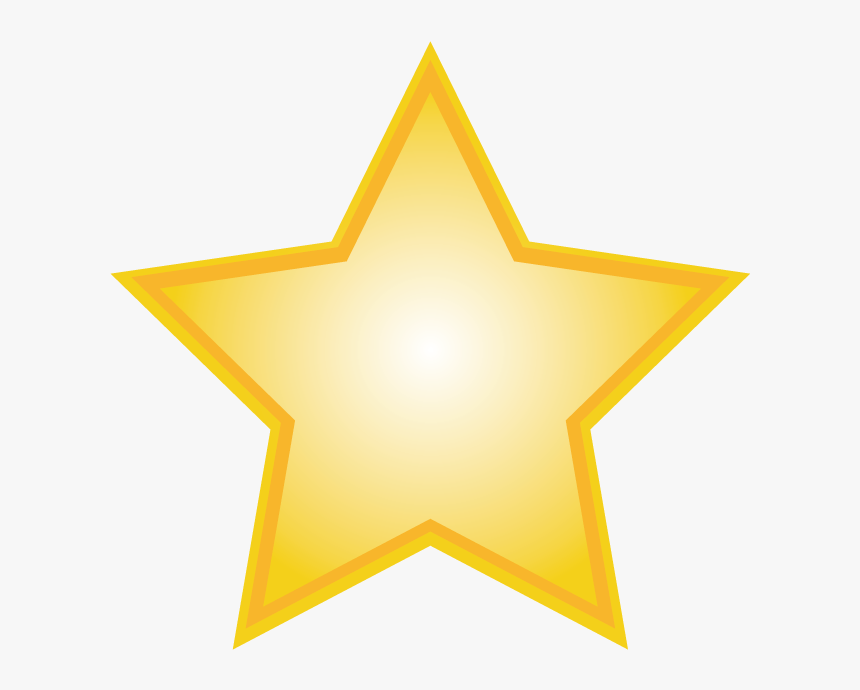 Star Circle Clip Art - Transparent Background Gold Star Png, Png Download, Free Download