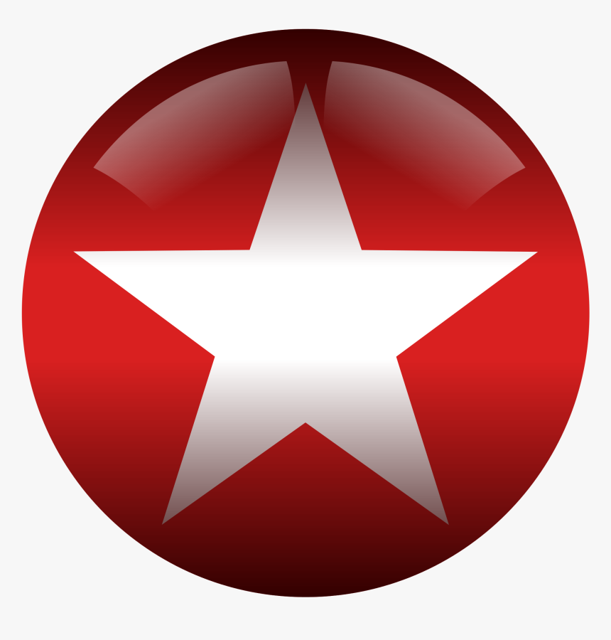 Red And White Star, HD Png Download, Free Download