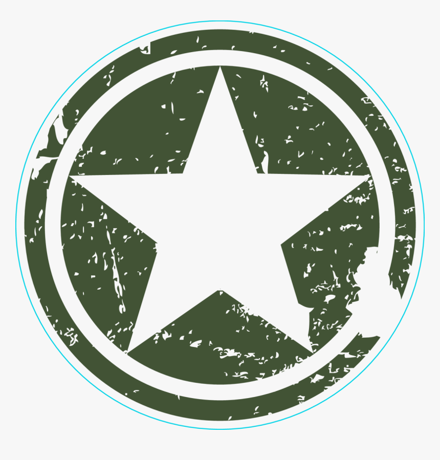 Army Star Circle Sticker - Transparent Army Sticker Png, Png Download, Free Download