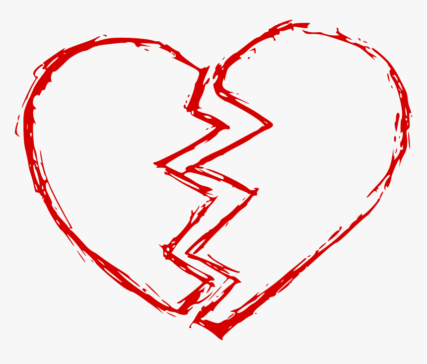 Red Broken Heart Png, Transparent Png, Free Download