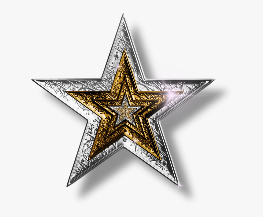 Cowboys Star Png - Silver And Gold Stars, Transparent Png, Free Download