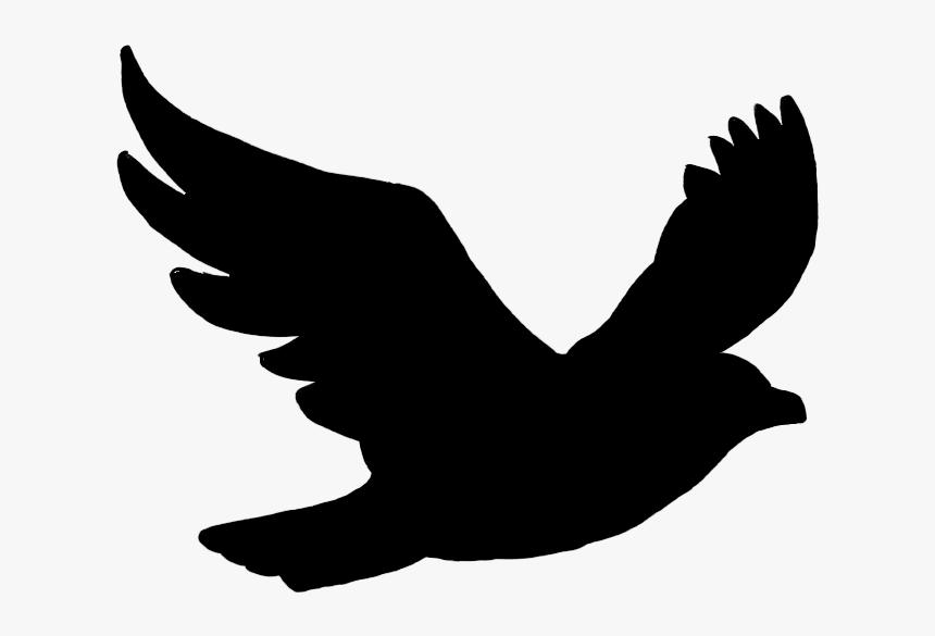 Bird Flight Bird Flight Silhouette Clip Art - Black Bird Png Clipart, Transparent Png, Free Download