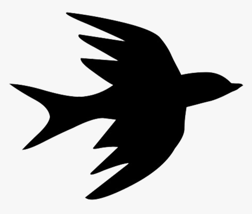 Bird Flight Bird Flight Swallow Silhouette - Silhouette Flying Bird Png, Transparent Png, Free Download