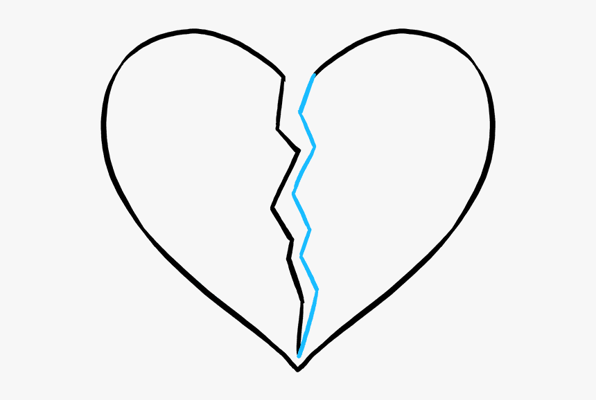 How To Draw Broken Heart - Line Art, HD Png Download, Free Download