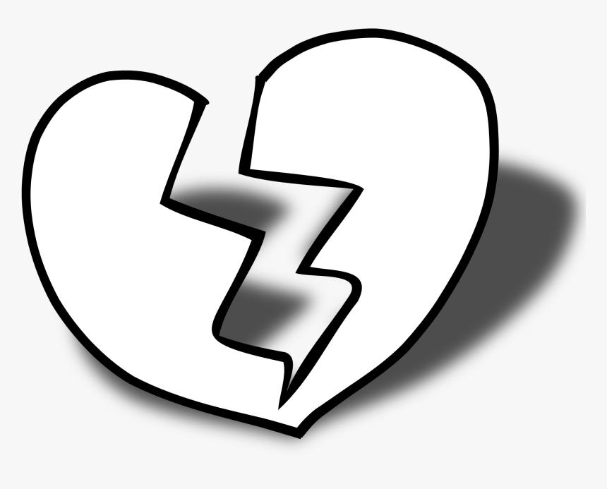 Heart Black And White Heart Black And White Heart Clipart - Broken Heart Black And White, HD Png Download, Free Download