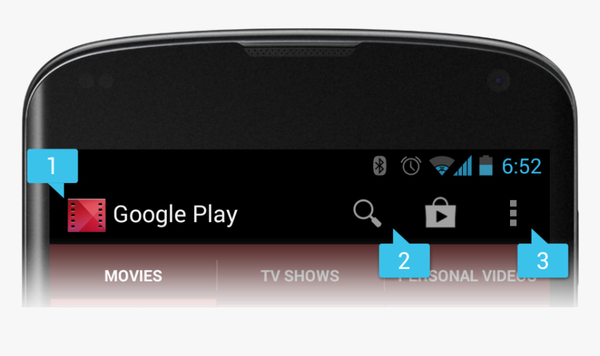 Enter Image Description Here - Menu Actionbar Android Studio, HD Png Download, Free Download