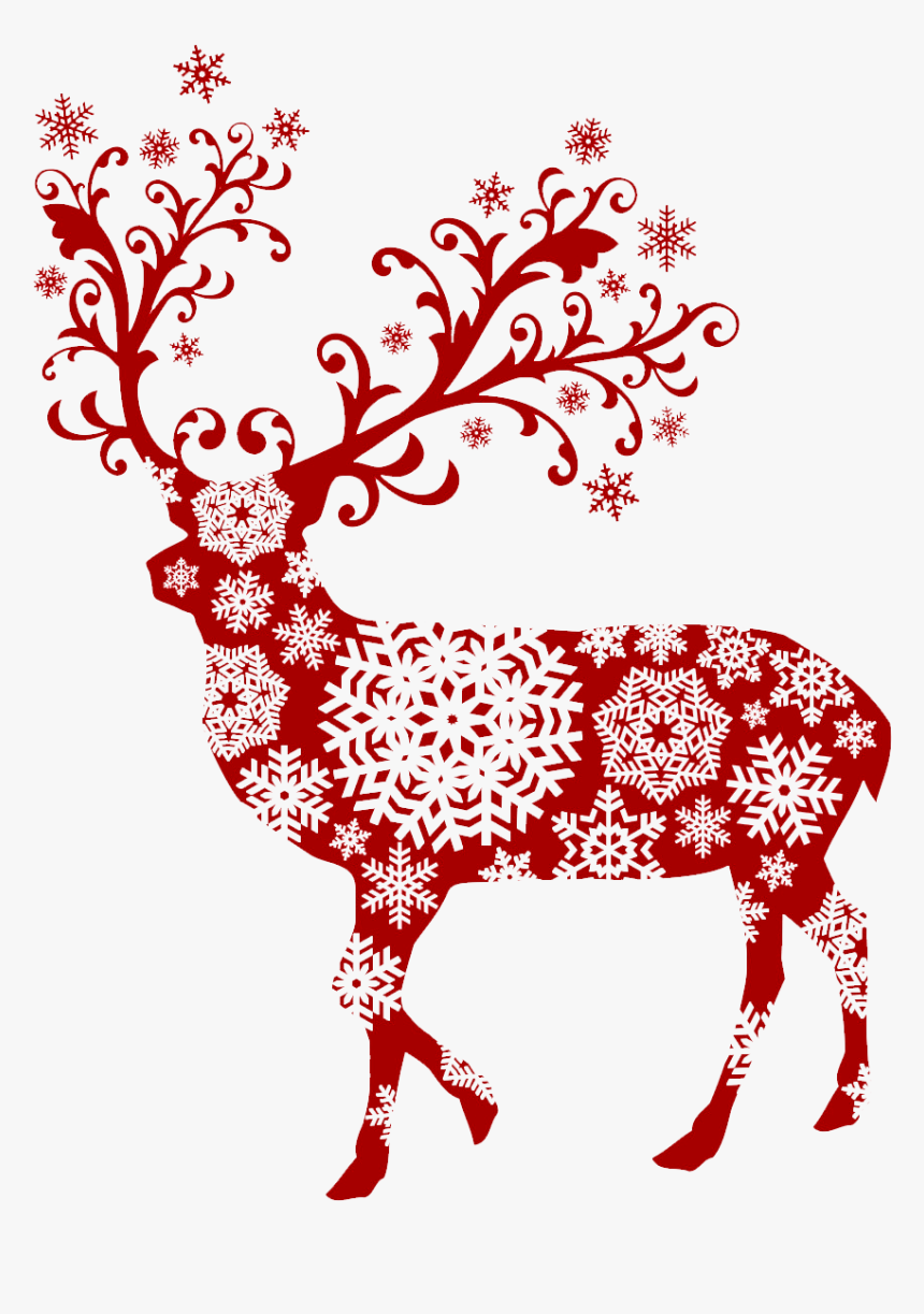 Clipart Reindeer Secret Santa - Christmas Snow Flakes, HD Png Download, Free Download