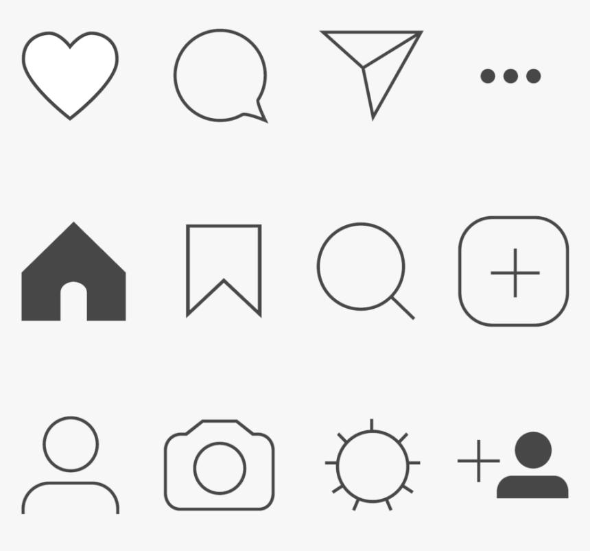 Instagram Icons Png Transparent Transparent Background - Instagram Direct Icon Transparent, Png Download, Free Download