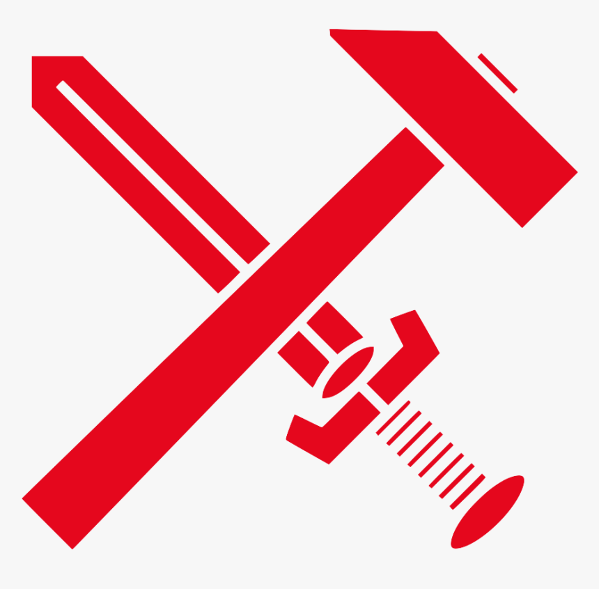 Strasserism Hammer And Sword Red - Sword And Hammer Symbol, HD Png Download, Free Download