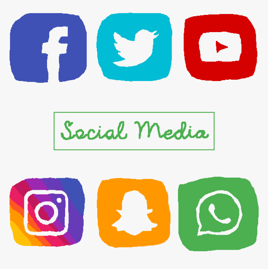 Social Media Icons - Transparent Background Social Media Icon Png, Png Download, Free Download
