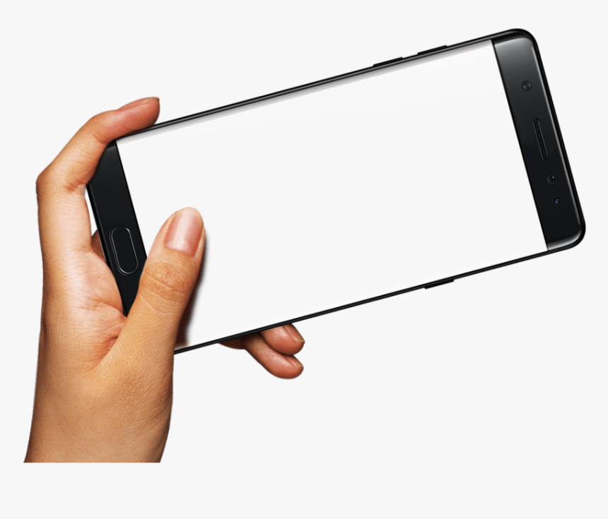 Mobile Frame Png - Phone Frame Png With Hand, Transparent Png, Free Download
