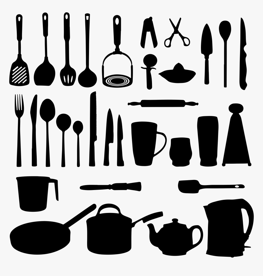Clipart Kitchen Utensils, HD Png Download, Free Download